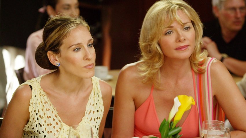 """Sarah Jessica Parker and Kim Cattrall in a scene from """"Sex and the City."""""""