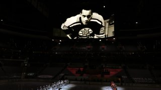 A pregame video ceremony honors Hockey Hall of Fame member Willie O'Ree prior to the Philadelphia Flyers' home game against the Buffalo Sabres on Monday, Jan. 18, 2021.