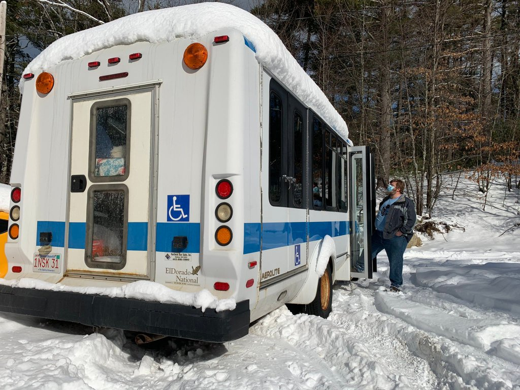 Lowell science teacher John King and the bus he now teaches from