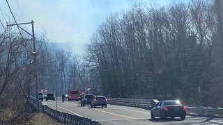Brush fire in Southbury