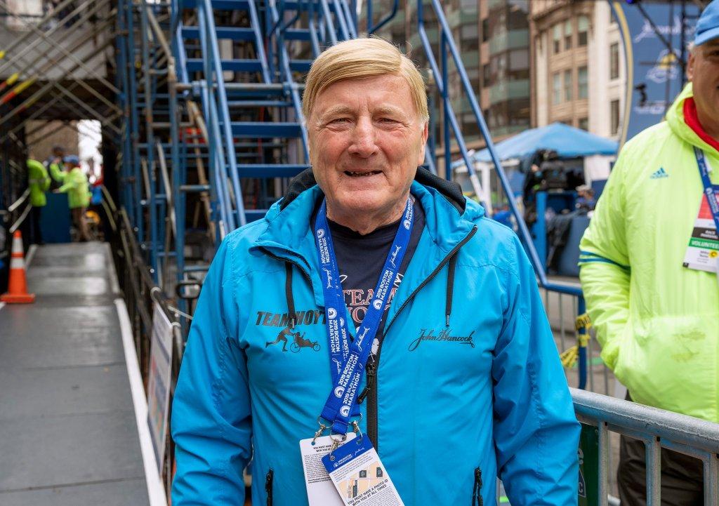 Dick Hoyt at the 2019 Boston Marathon