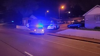 The scene of a fatal police shooting in Nashville on Saturday, April 24, 2021. Massachusetts prosecutors said the man killed in this incident was wanted for murder.
