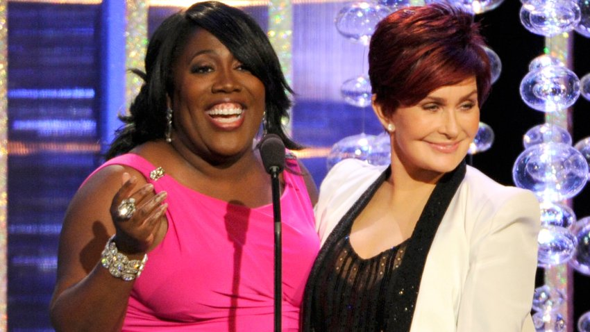 In this June 22, 2014, file photo, Sheryl Underwood, left, and Sharon Osbourne present the award for outstanding lead actor in a drama series at the 41st annual Daytime Emmy Awards at the Beverly Hilton Hotel in Beverly Hills, California.