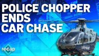 WATCH: After Car Chase, Suspects Appear to Surrender to Helicopter
