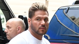 Ronnie Ortiz-Magro is seen outside Good Morning America on July 9, 2019 in New York City.