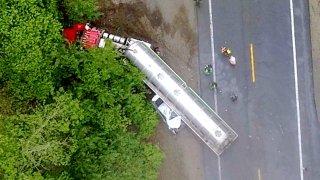 bourne tractor trailer crash