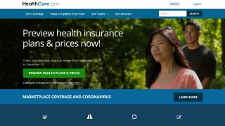 This image provided by U.S. Centers for Medicare & Medicaid Service shows the website for HealthCare.gov.