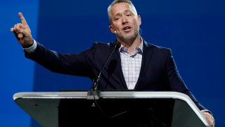 Southern Baptist Convention President J. D. Greear speaks during the denomination's annual meeting Tuesday, June 15, 2021, in Nashville, Tenn.