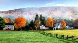 Autumn fog in the Berkshires