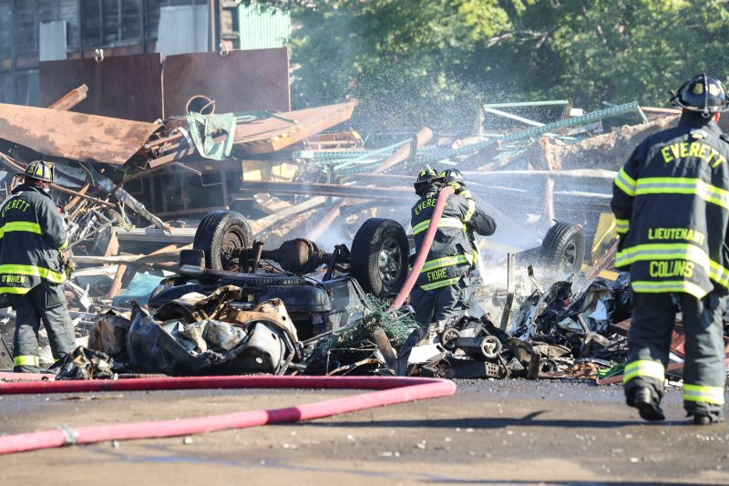 Photo Gallery: Firefighters Douse Flames at Everett Scrap Yard