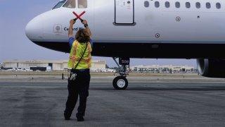 plane runway ground traffic controller tarmac