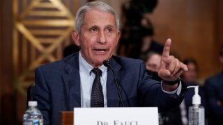 Top infectious disease expert Dr. Anthony Fauci responds to accusations by Sen. Rand Paul, R-Ky., as he testifies before the Senate Health, Education, Labor, and Pensions Committee