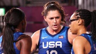 Stefanie Dolson helped lead Team USA past Italy in 3x3 basketball