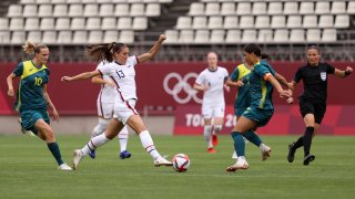 Alex Morgan wasn't at her sharpest for Team USA versus Australia