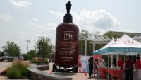 World's Largest Soap Bottle Visits Mass.