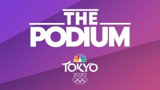 The Podium podcast logo on NBC Olympics