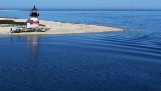 The Brant Point Lighthouse in Nantucket, Massachusetts