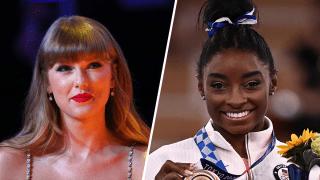 Taylor Swift and Simone Biles