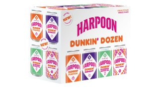 A Harpoon beer Dunkin' dozen variety pack