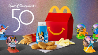 To celebrate Walt Disney World's 50th anniversary, McDonald's will release limited-edition Happy Meal toys.