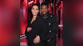 Jennifer Goicoechea and Usher