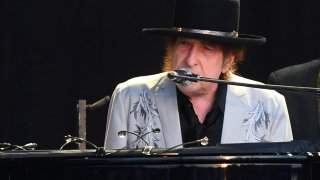 LONDON, ENGLAND - JULY 12: Bob Dylan performs as part of a double bill with Neil Young at Hyde Park on July 12, 2019 in London, England.