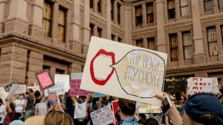 Demonstrators Attend Women's March To Defend Reproductive Rights