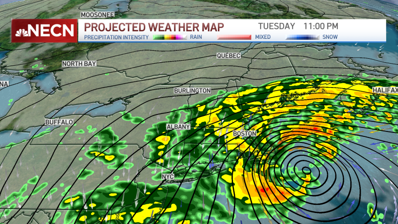 Timeline, Projections as 2 Major Storms Prepare to Blast New England