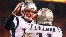 Watch Patriots Stars Tom Brady, Julian Edelman Play Catch at Boston College