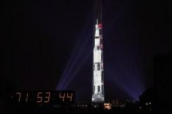 Washington Monument Transforms Into Saturn V Rocket