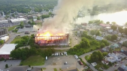 Drone Captures 5-Alarm Blaze at Maine Mill
