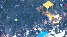 Protesters Scuffle with Boston Police