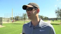 Brad Stevens Visits Red Sox at Spring Training