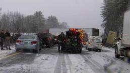 Chain-Reaction Crashes Shut Part of I-91 in Vermont