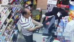 Clerk Stays Calm During Armed Robbery in Maynard
