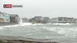 Powerful Waves Batter Scituate Coast