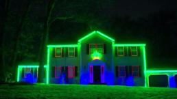 Families Drive for Miles to See Light Display