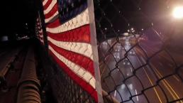 Flags Hanging Over Mass Pike Vandalized for Third Time