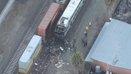 Metrolink Train Strikes Motorhome, Causing a Fiery Collision