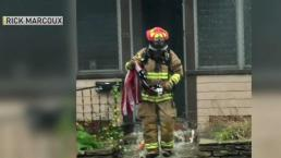 Marine Veteran Saves Flag From Mass. Fire