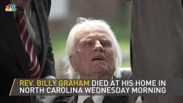Billy Graham, Evangelist Pastor, Dies at 99