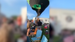 1 Hurt When Out-of-Control Hot Air Balloon Crashes Into Crowd