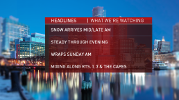 NBC Boston Weather Team's Snow Timeline, Projections