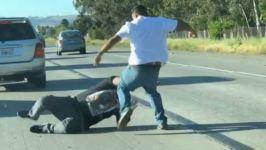 Easter Brawl: Video Shows Men Fighting on Calif. Highway