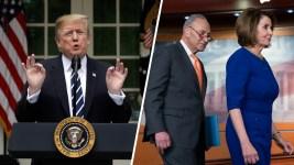 Trump Stalks Out on Democrats, Demands End of Investigations