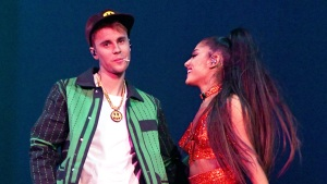 Surprise: Bieber Joins Ariana Grande Onstage At Coachella