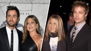 How Aniston's Splits From Theroux and Pitt Are Similar