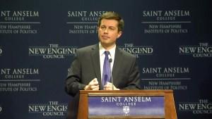 Pete Buttigieg Speaks at 'Politics & Eggs' NH Event