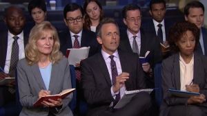 'Late Night': White House Press Briefing With Seth Meyers