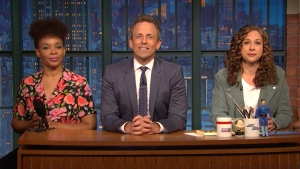 'Late Night': Jokes Seth Can't Tell — Shoplifters, Lemonade